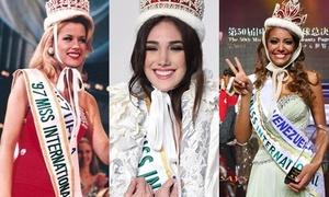 Nhan sắc 8 mỹ nhân Venezuela đăng quang Hoa hậu Quốc tế