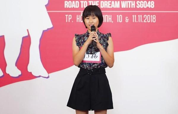 Thí sinh có SBD 1586 là người Nhật hiện đang sinh sống tại Việt Nam nhưng không biết tiếng Việt. Cô bé cho biết Em sẽ cố gắng học tiếng Việt trong tương lai nếu đậu vào SGO48