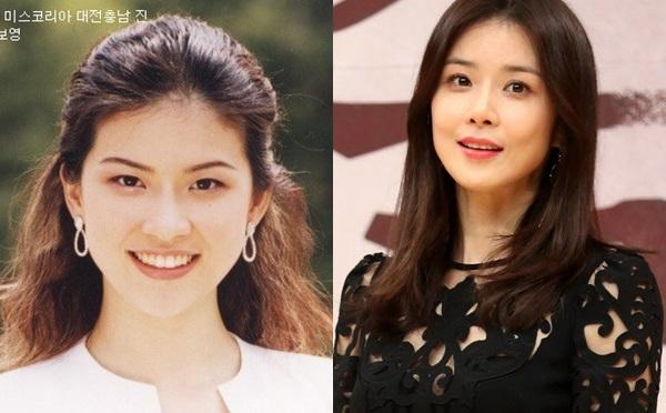 Lee Bo Young (1979) cũng xuất thân từ một cuộc thi nhan sắc. Cô được biết đến với danh hiệu Hoa hậu Hàn Quốc Dae Jun năm 2000, và khởi nghiệp trong vai trò người mẫu trước đó 3 năm. Hiện tại, Hiện tại, ngôi saoI can hear your voiceđang có một sự nghiệp rực rỡ và cuộc hôn nhân hạnh phúc với nam diễn viên Ji Sung.