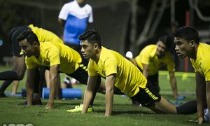 Malaysia tập kín trước trận đấu với Việt Nam