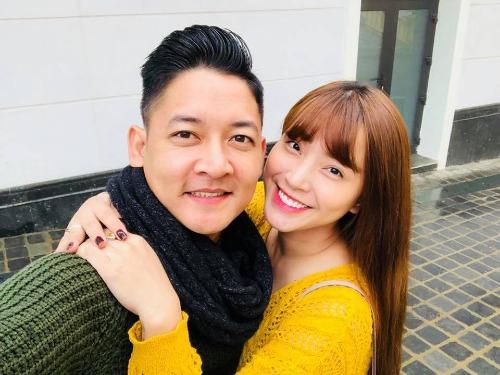 Thành Đạt và bà xã Hải Băng.