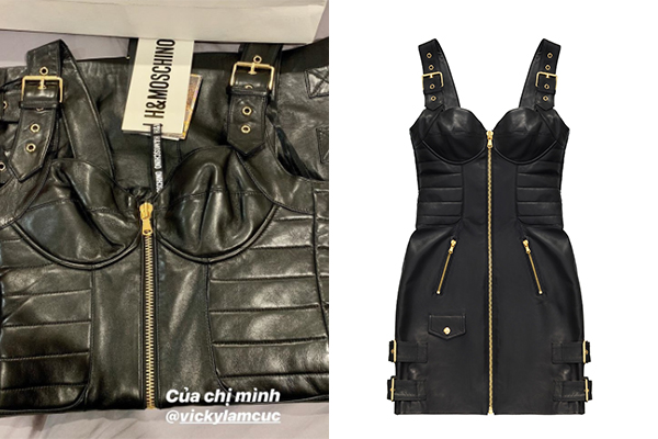 Hoa hậu Vicky Lam Cúc lùng cho Kỳ Duyên chiếc váy da khóa kim loại bán chạy nhất trong BST Mocchino [TV] H&M. Hiện tại mẫu đầm này đã hết hàng trên toàn hệ thống.