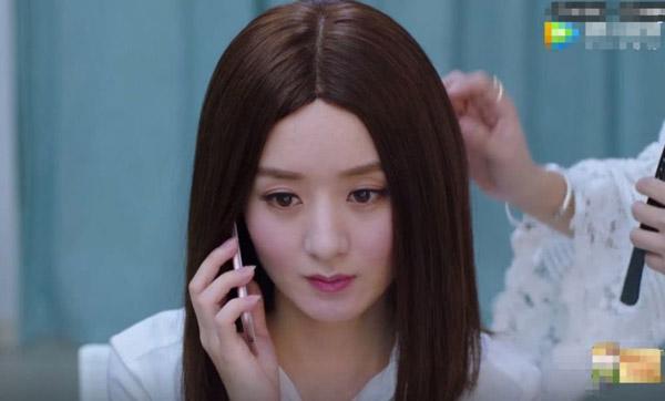 Mái tóc giảđã gây họa cho nhan sắc của Triệu Lệ Dĩnh.