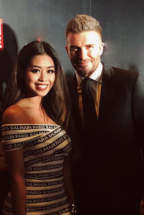 Thảo Tiên gặp lại David Beckham sau 4 năm.