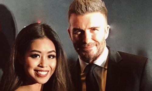 Hot girl hội rich kid Thảo Tiên gặp David Beckham