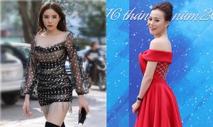 Phương Oanh khoe vai trần, Kỳ Duyên diện váy ngắn cũn chấm thi sắc đẹp