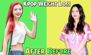 So sánh thân hình trước và sau giảm cân của loạt idol Hàn