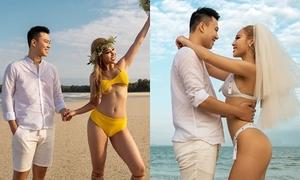 Ảnh cưới bikini nóng bỏng của hot girl thể hình Tra Li