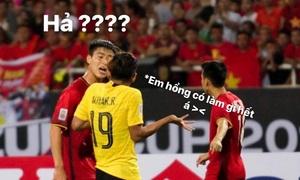 Ảnh chế hài hước về biệt danh của bộ ba hậu vệ tuyển Việt Nam