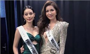 Người đẹp Philippines được Minh Tú cho mượn đầm dạ hội vì mất hết hành lý