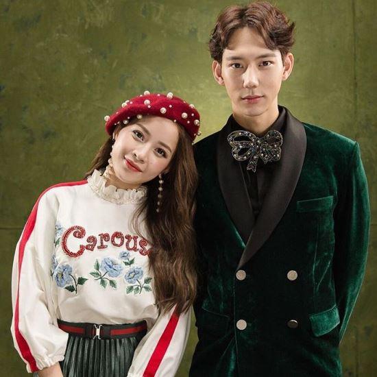Chi Pu và Jin Ju Hyung.