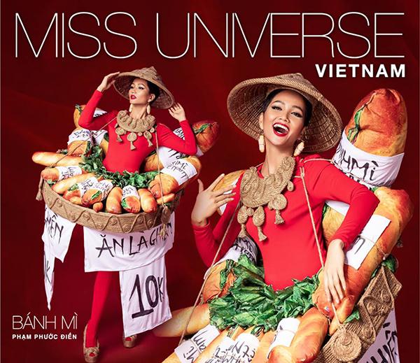 Bánh mì chính thức trở thành quốc phục của HHen Niê ở Miss Universe - 1