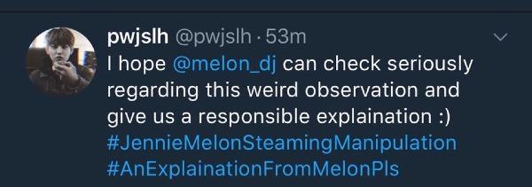 Các fanquốc tếyêu cầu Melon trả lời vềthứ hạng kỳ quặc của Jennie.