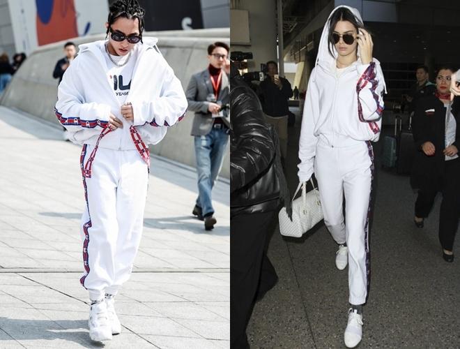<p> Dự Seoul Fashion Week, Sơn Tùng diện bộ cánh tông trắng của nhà mốt Vetements x Champion. Set đồ thể thao được anh chàng phối cùng các phụ kiện ăn ý, hợp rơ. Thiết kế sành điệu này từng được siêu mẫu Kendall Jenner diện trước đó.</p>