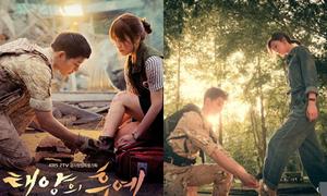 Phim ngôn tình Trung Quốc gây xôn xao vì có poster 'nhái' 'Hậu duệ Mặt trời'