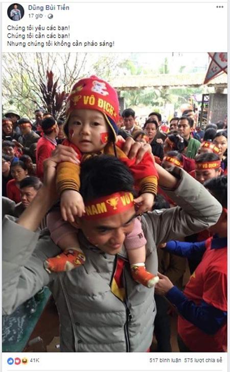 Dàn tuyển thủ Việt Nam kêu gọi fan nói không với pháo sáng - 2