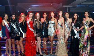 Minh Tú tỉnh táo chọn 'vị trí đắc địa' để pose hình tại Miss Supranational