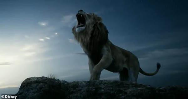Sư tử vua cha Mufasa dũng mãnh.