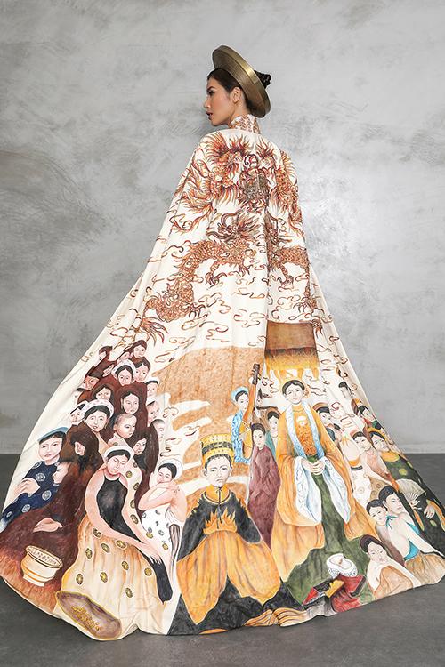 Trang phục dân tộc của Minh Tú mang màu sắc con rồng cháu tiên - 3