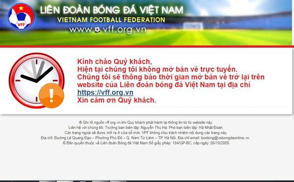 Người hâm mộ cần phải đợi đến 9h thứ Ba ngày 27/11 mới có thể bắt đầu đăng ký mua vé trực tuyến.