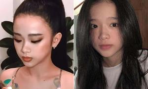 Mặt mộc gây bất ngờ của Linh Ka - hot girl 10x mê trang điểm 'già chát'