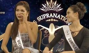 Minh Tú bật khóc khi nhắc đến mẹ tại Miss Supranational 2018