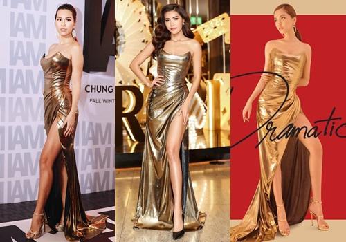 Đứng chung khuôn hình, ba mỹ nhân không hề kém cạnh nhau khi diện chung váy.