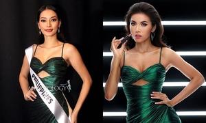 Minh Tú 'chặt đẹp' mỹ nhân Philippines khi mặc lại váy cho mượn