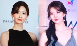 Yoon Ah - Suzy cạnh tranh ngôi 'nữ thần thảm đỏ' tại AAA 2018