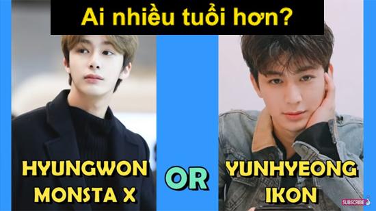 Fan Kpop thử tài đoán idol lớn tuổi hơn? - 6