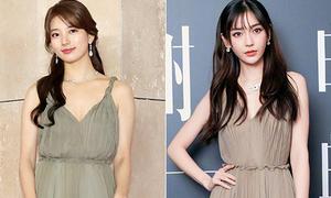 Ba lần đụng độ trang phục của hai mỹ nhân vóc dáng khác biệt Angelababy - Suzy