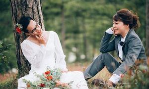 Bộ ảnh cưới phong cách 'Chàng vợ của em' siêu lầy