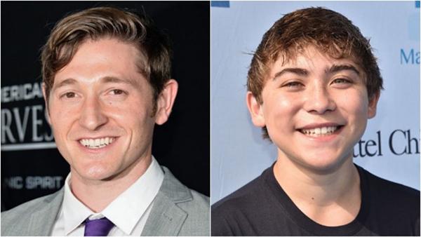 Lucas Neff (trái) bị thay thế phút trót vì giọng quá già so với mức đạo diễn mong đợi.