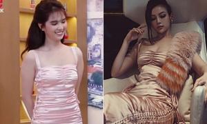 Chị gái vô tình khiến Ngọc Trinh bị nghi mặc váy nhái
