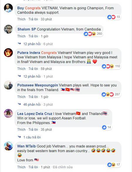 Người hâm mộ bóng đá gửi lời chúc tới đội tuyển Việt Nam.