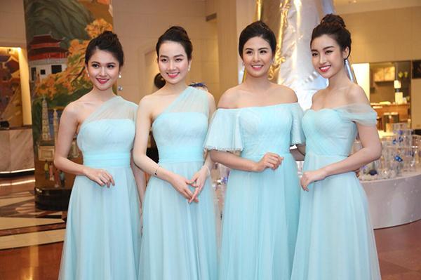 Sau lễ rước dâu sáng nay (2/12), chiều tối cùng ngày tiệc cưới của Á hậu Thanh Tú và bạn trai doanh nhân diễn ra tại một khách sạn sang trọng ở Hà Nội.