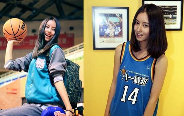 Ảnh mặc đồng phục bóng rổ năm 16 tuổi của Mao Hiểu Tuệ.