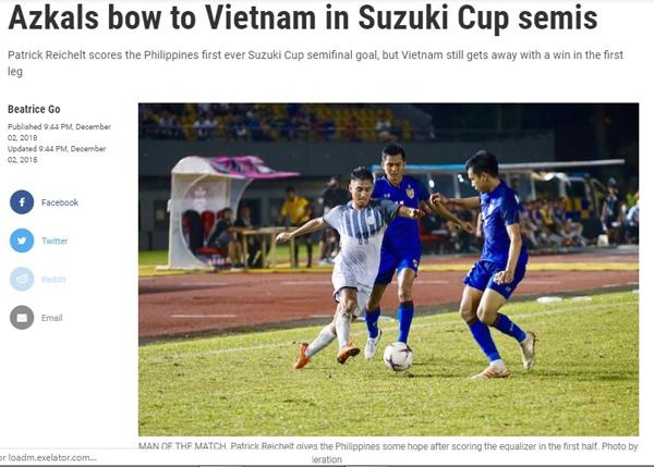 Báo Philippines tâm phục khẩu phục chiến thắng của Việt Nam