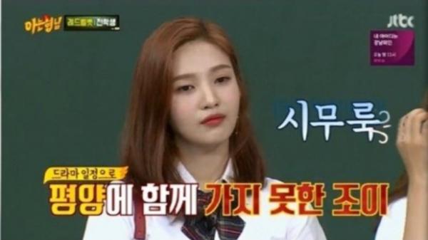 Thái độ chán chường của Joy trên show bị chỉ trích.