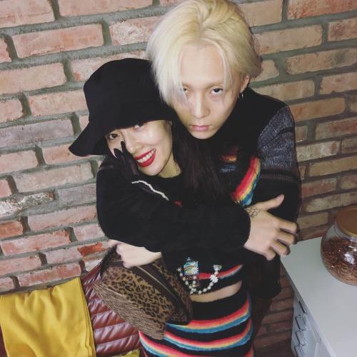 Hyun Ah hạnh phúc bên EDawn.