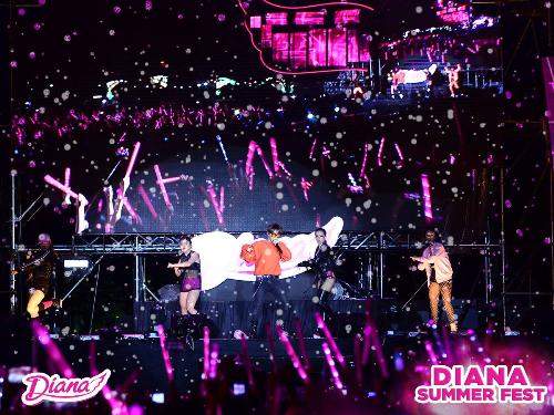 Đại nhạc hội Diana Summer Fest 2017 thu hút hơn 15.000 khán giả.