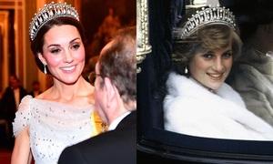 Công nương Kate khiến fan 'nín thở' khi đội vương miện của Diana