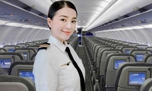 Nữ diễn viên xinh đẹp trở thành phi công của hãng hàng không Việt Nam