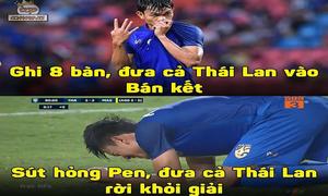 Đá hỏng penalty tuyển thủ Thái bị chế ảnh 'vua phá lưới thành vua phá hoại'