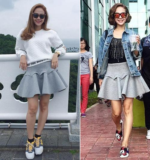 Phong cách của Minh Hằng là trẻ trung, năng động, đặc biệt là ăn gian tuổi nên ít ai nghĩ năm nay cô đã hơn 30.