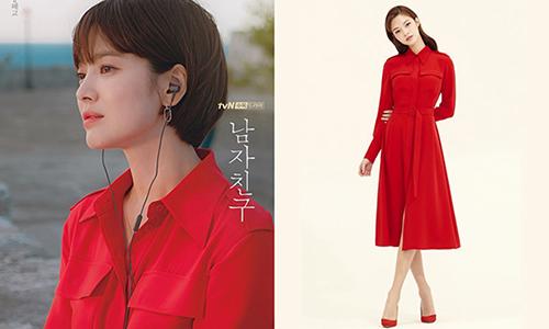 Song Hye Kyo giúp chiếc váy đỏ siêu tôn da được săn lùng