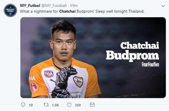Thật là một cơn ác mộng cho... Chatchai Budprom. Ngủ ngon tối nay nhé người Thái.