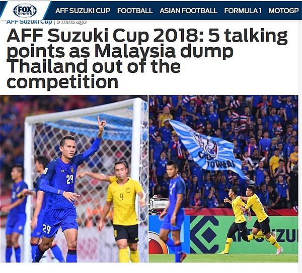 Fox Sports Asia chỉ ra 5 điểm yếu khiến Thái Lan phải ngậm ngùi nhìn Malaysia vào chung kết.