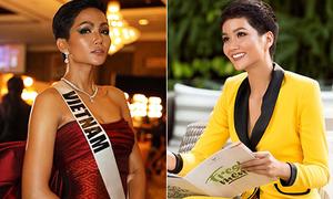 H'Hen Niê được khen vì luôn mặc đồ chuẩn dress code ở Miss Universe
