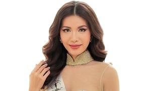 Minh Tú lần đầu diện áo dài cuốn hút tại Miss Supranational